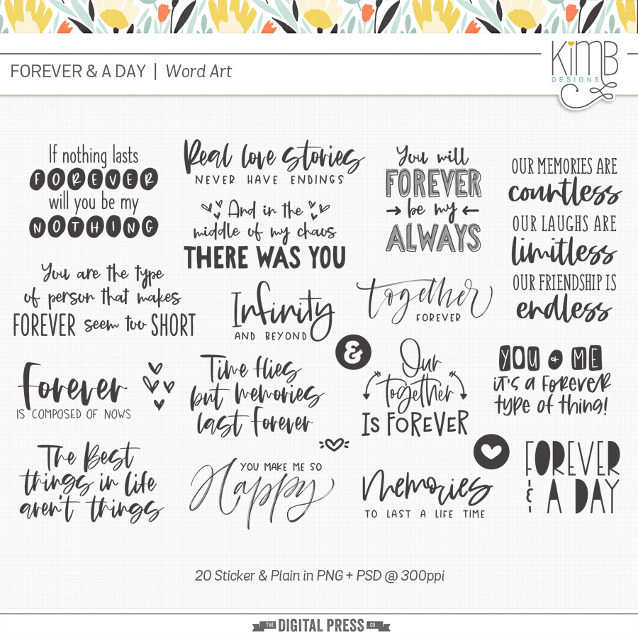 Forever & A Day   Word Art