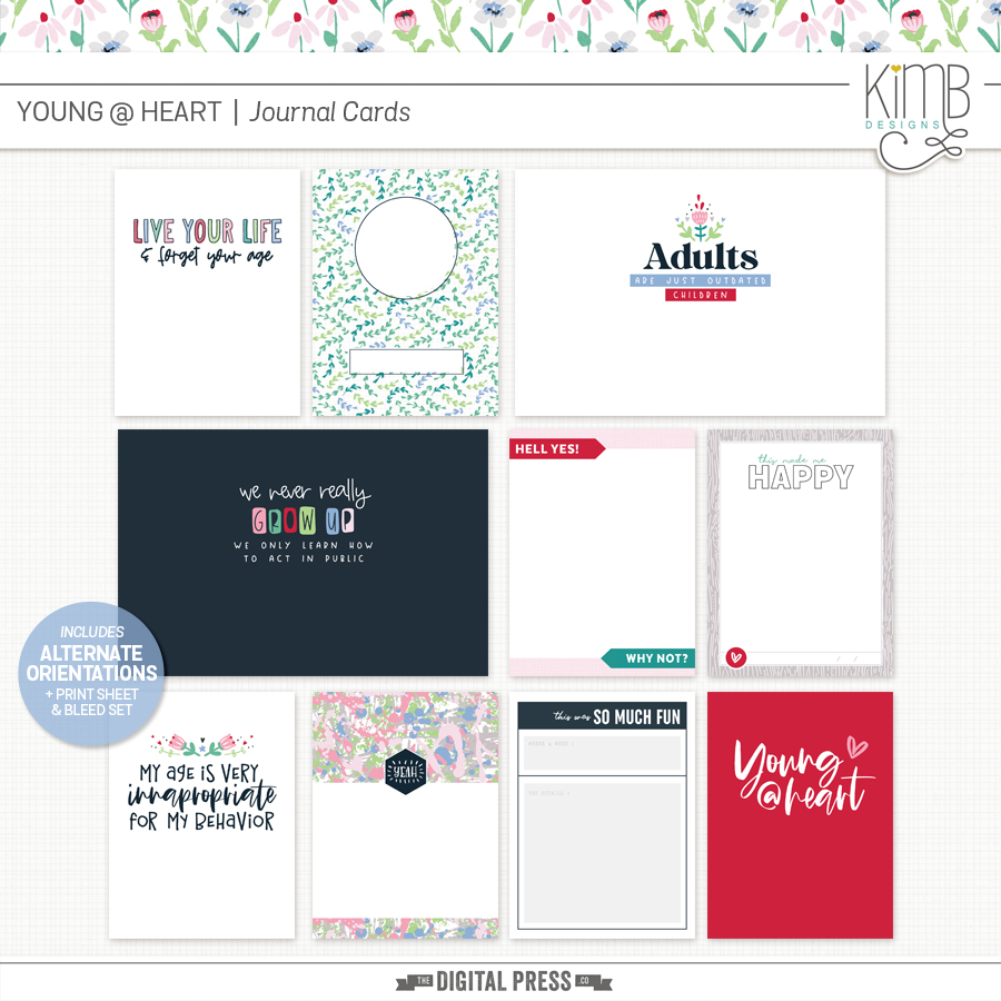 Young @ Heart | Journal Cards