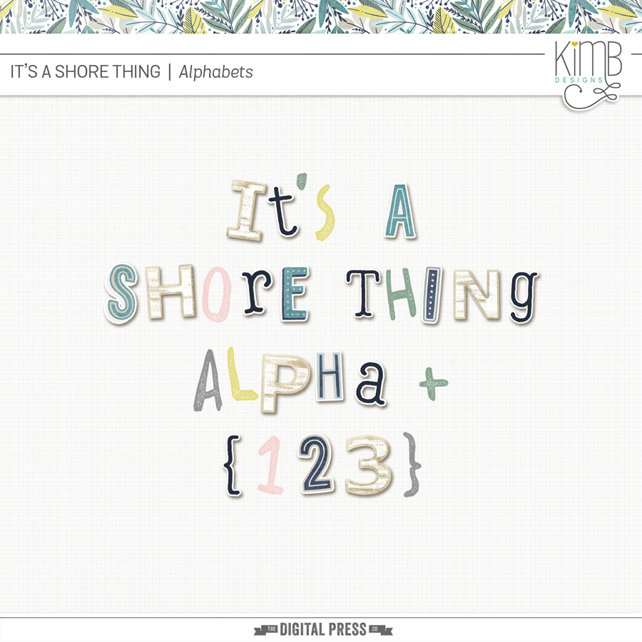 Shore Thing | Alphabets