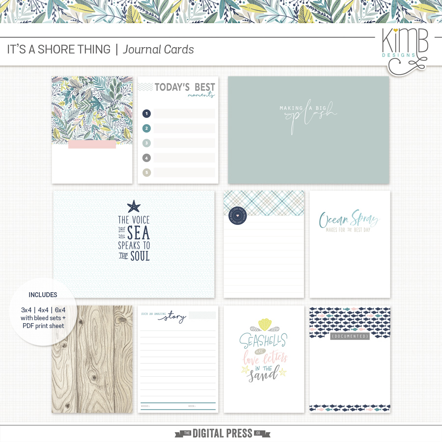 Shore Thing | Journal Cards