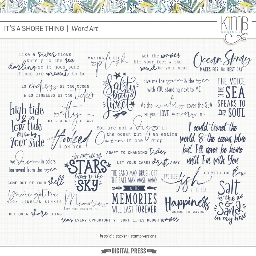 Shore Thing | Word Art