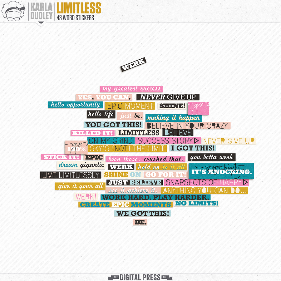 Limitless | word stickers