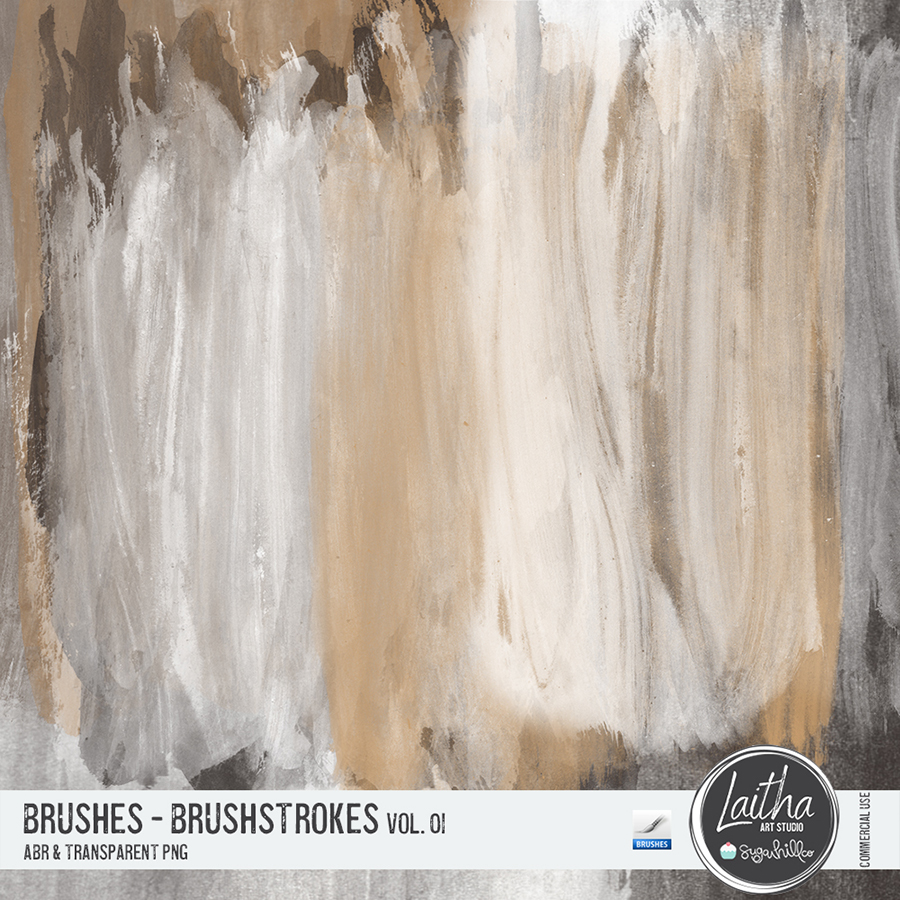 Brushstrokes Brushes & Stamps Vol. 01 (CU)