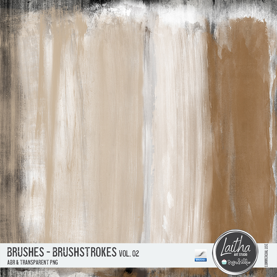 Brushstrokes Brushes & Stamps Vol. 02 (CU)