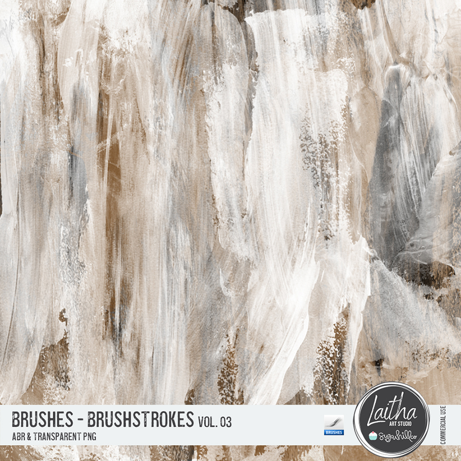 Brushstrokes Brushes & Stamps Vol. 03 (CU)