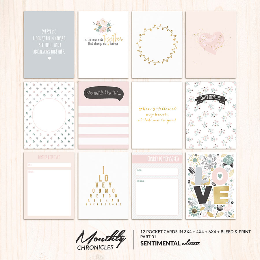 Monthly Chronicles   Sentimental Pocketcards 01