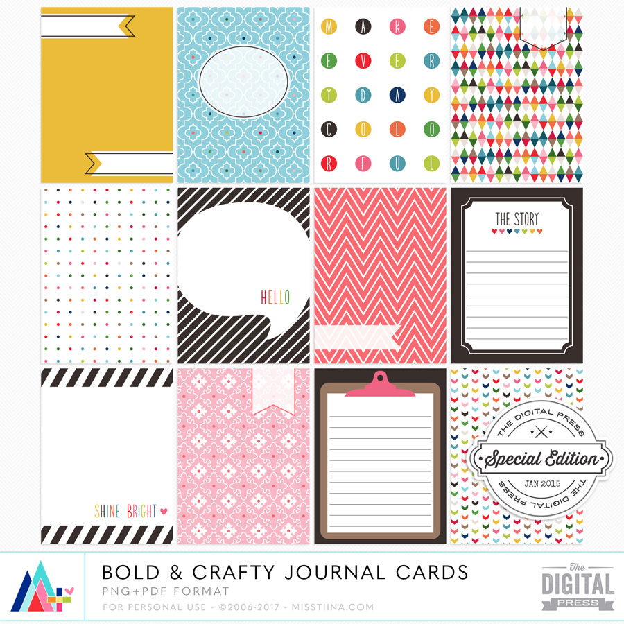 Bold & Crafty Journal Cards