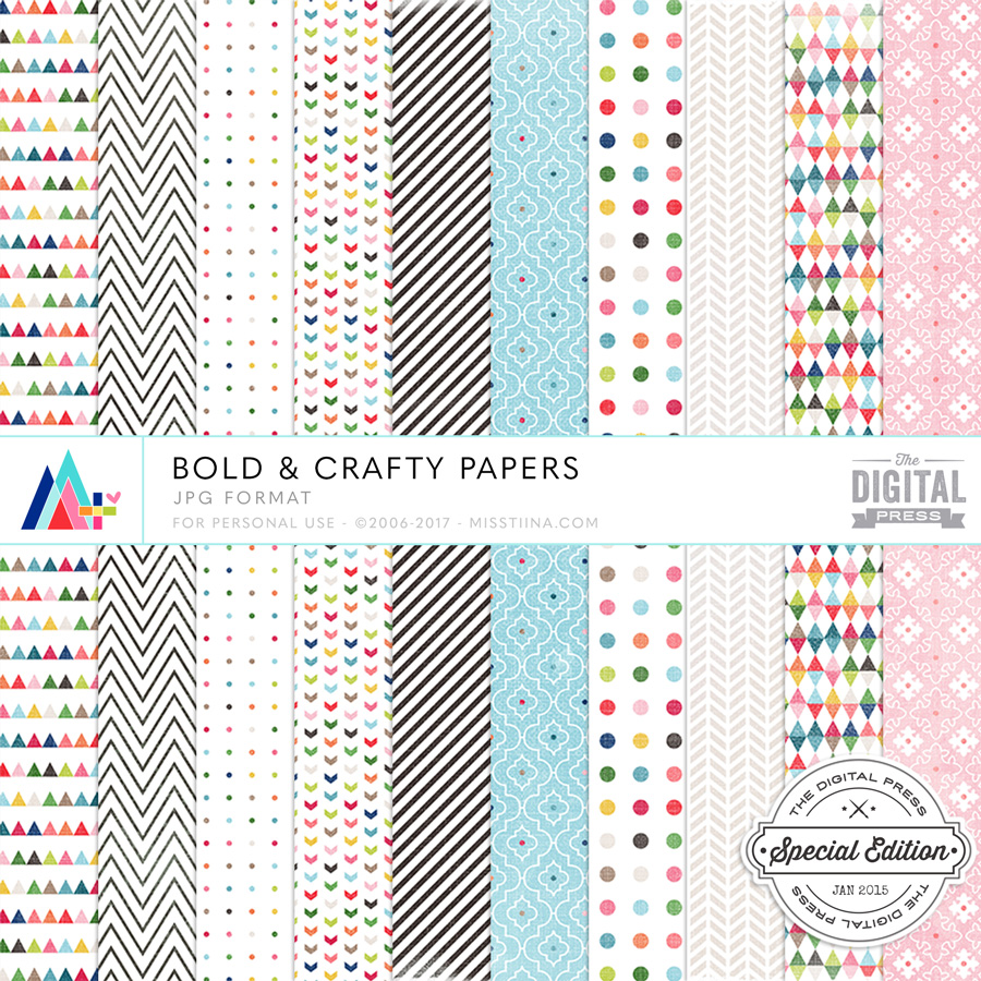 Bold & Crafty Papers