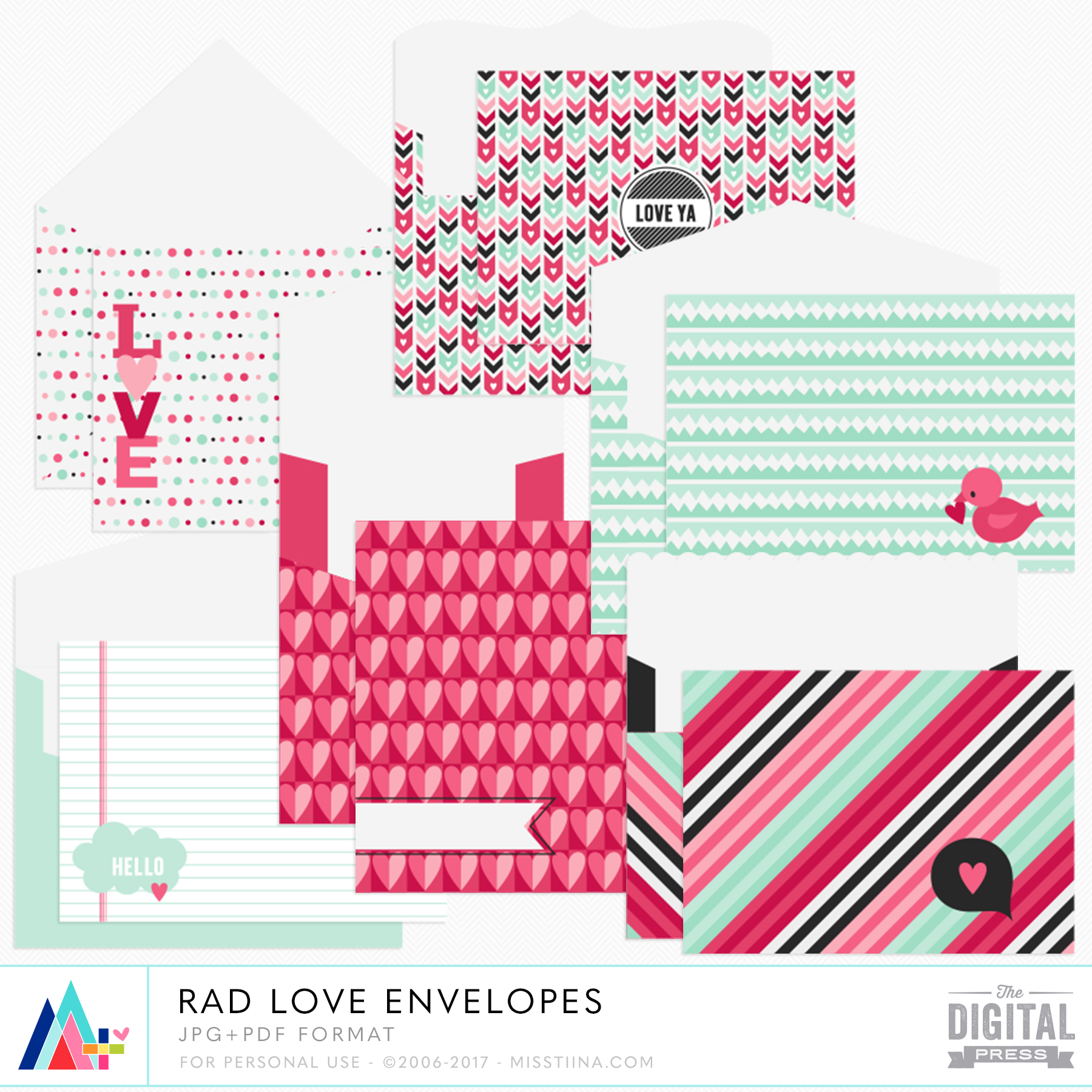 Rad Love Envelopes