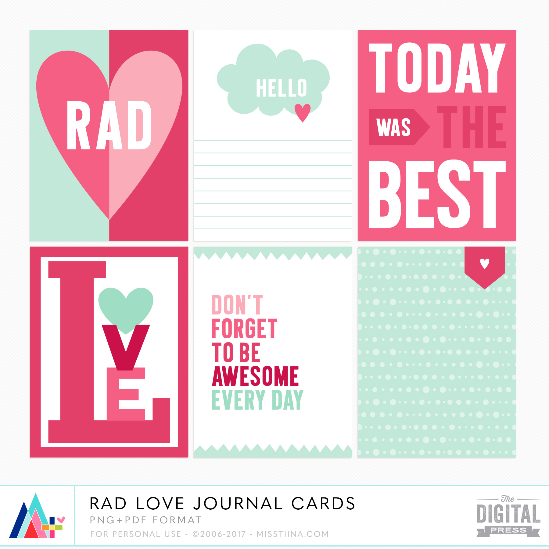 Rad Love Journal Cards