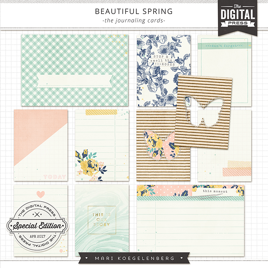 Beautiful Spring | Journaling Cards