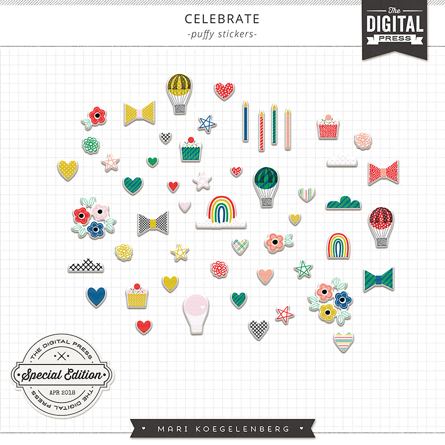 Celebrate | The Puffy Stickers