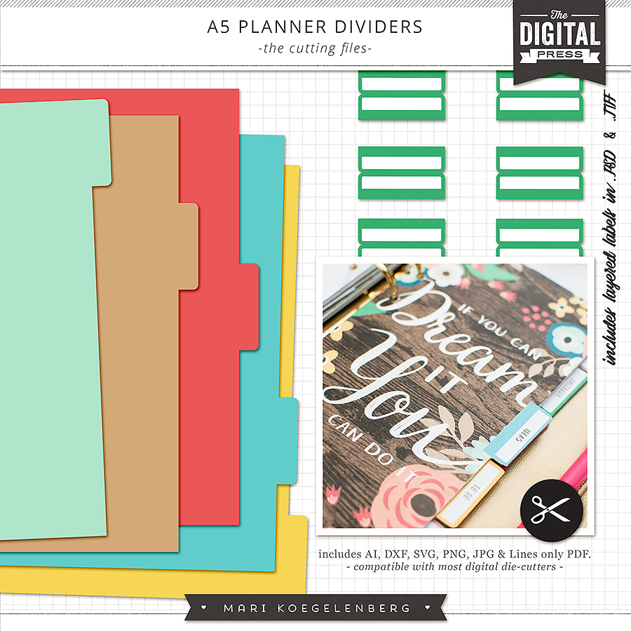 Planner Dividers | The Cutting Files
