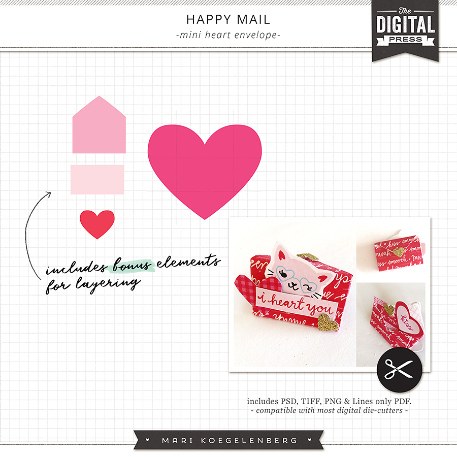 Happy Mail | Mini Heart Envelopes