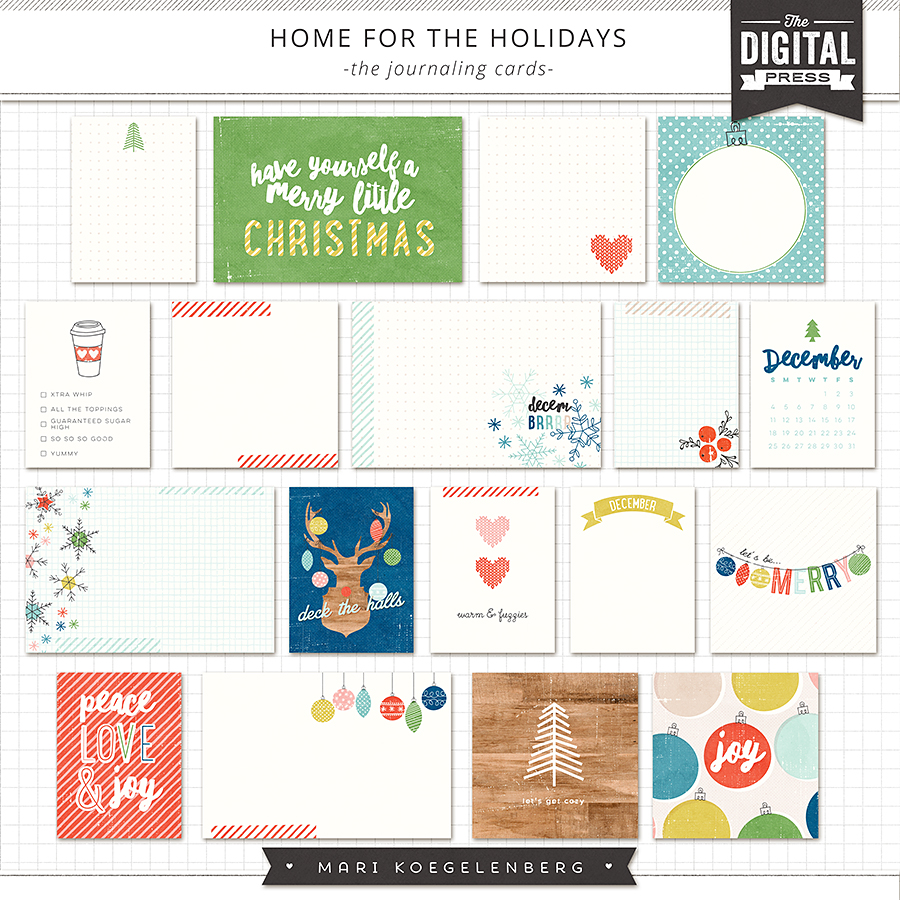 Home for the Holidays   The Journaling Cards