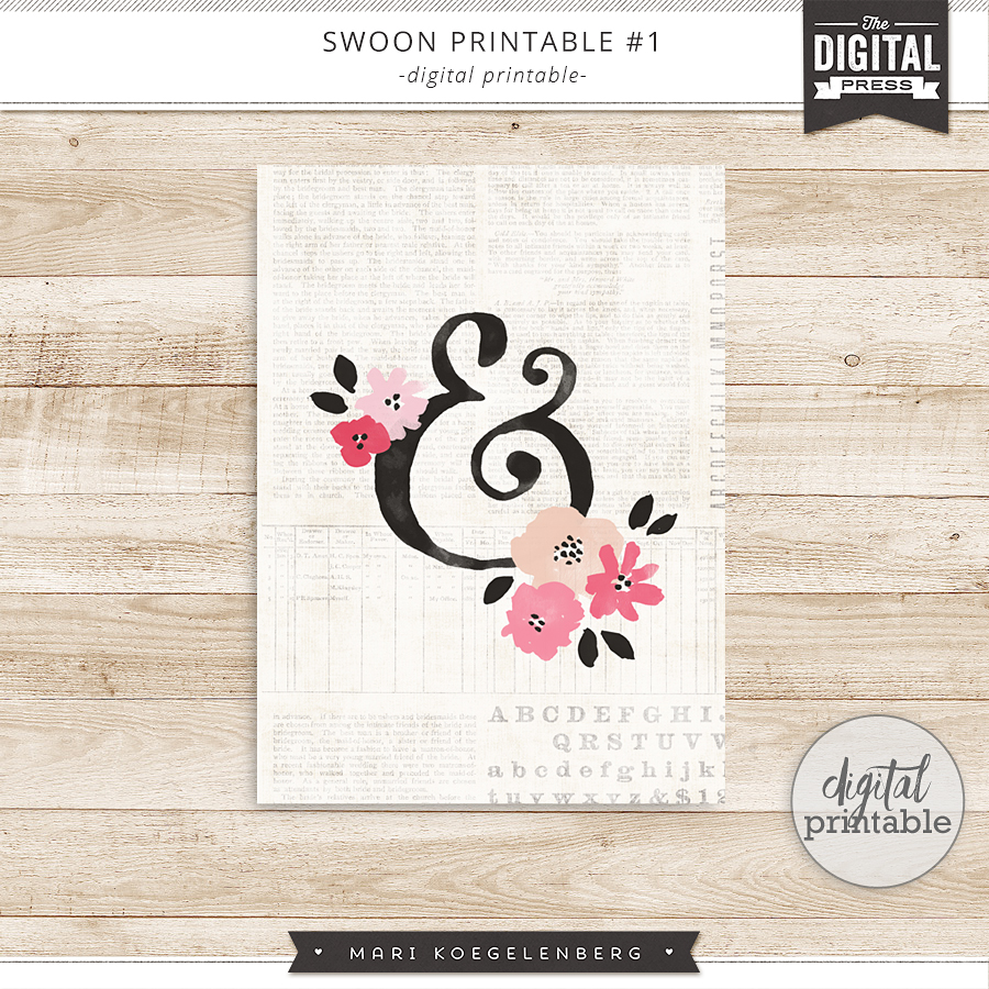 Swoon | Digital Printables 001