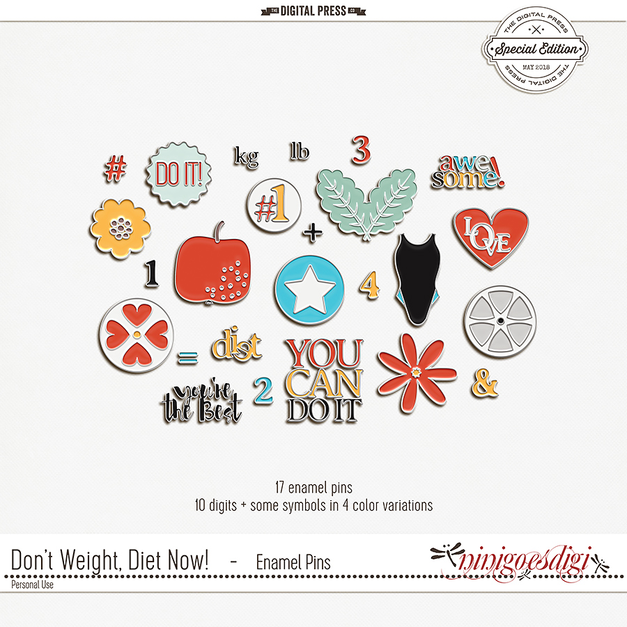 Don't Weight, Diet Now! | Enamel Pins