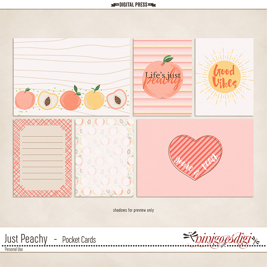 Just Peachy | Pocket Cards