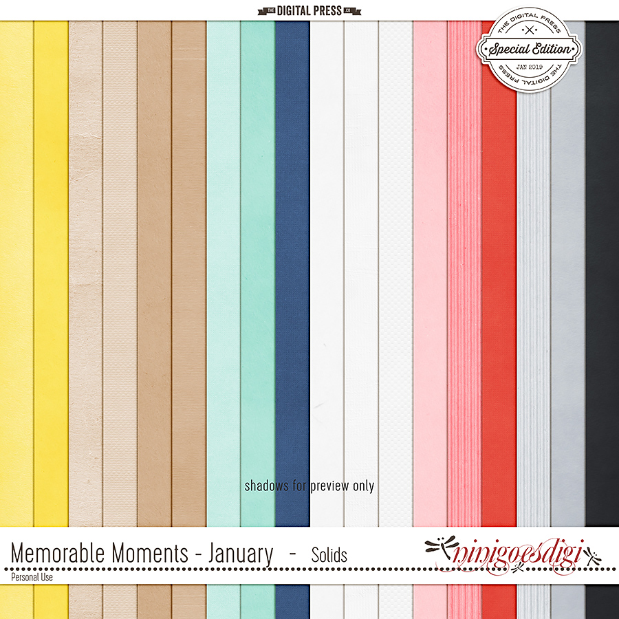 Memorable Moments - January | Solids