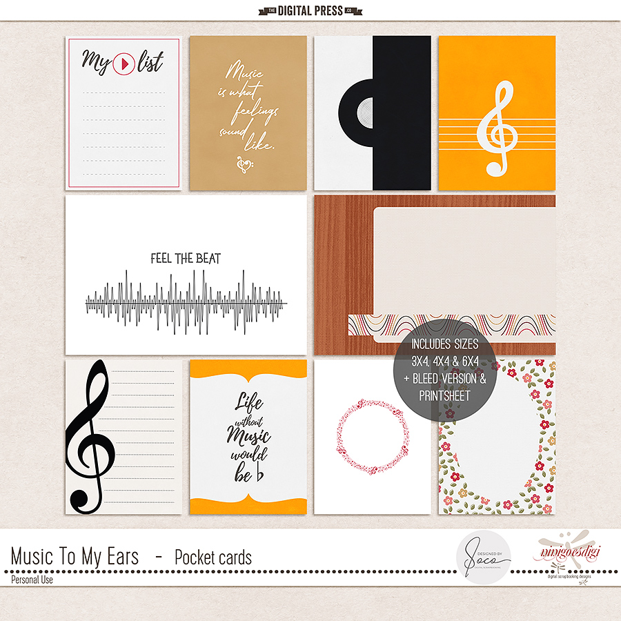 Music To My Ears | Pocket Cards