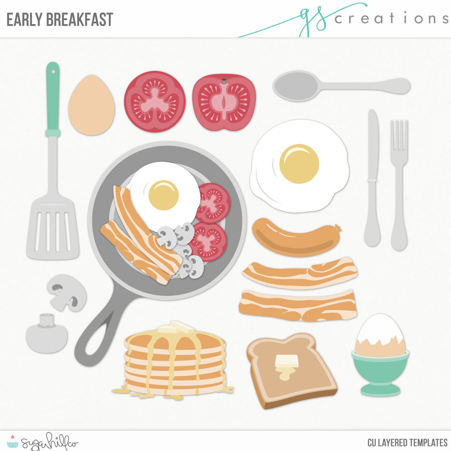 Early Breakfast Layered Templates (CU)