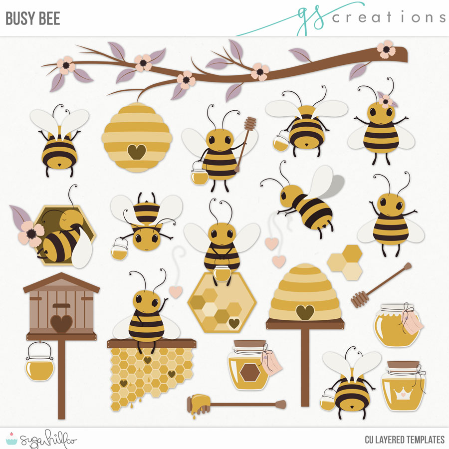 Busy Bee Layered Templates (CU)