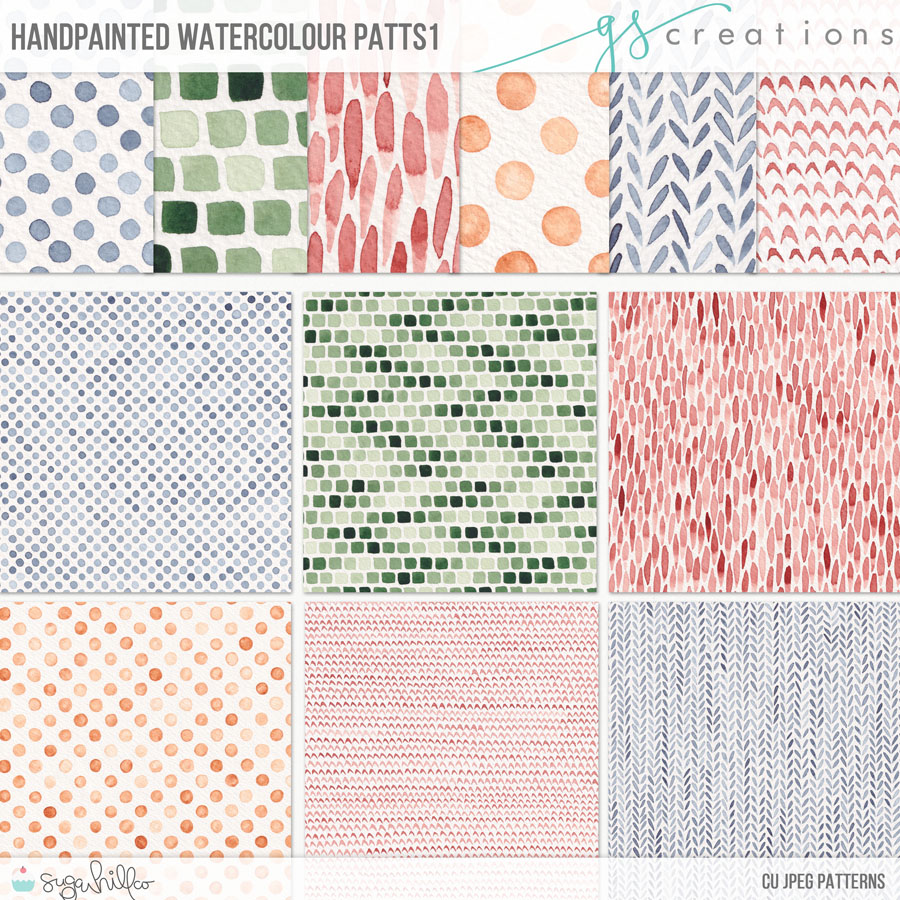 Hand Painted Watercolour Patts1 (CU)