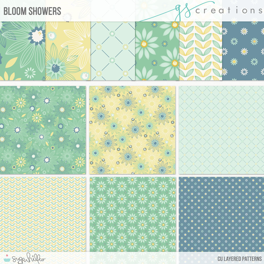 Bloom Showers Layered Patterns (CU)