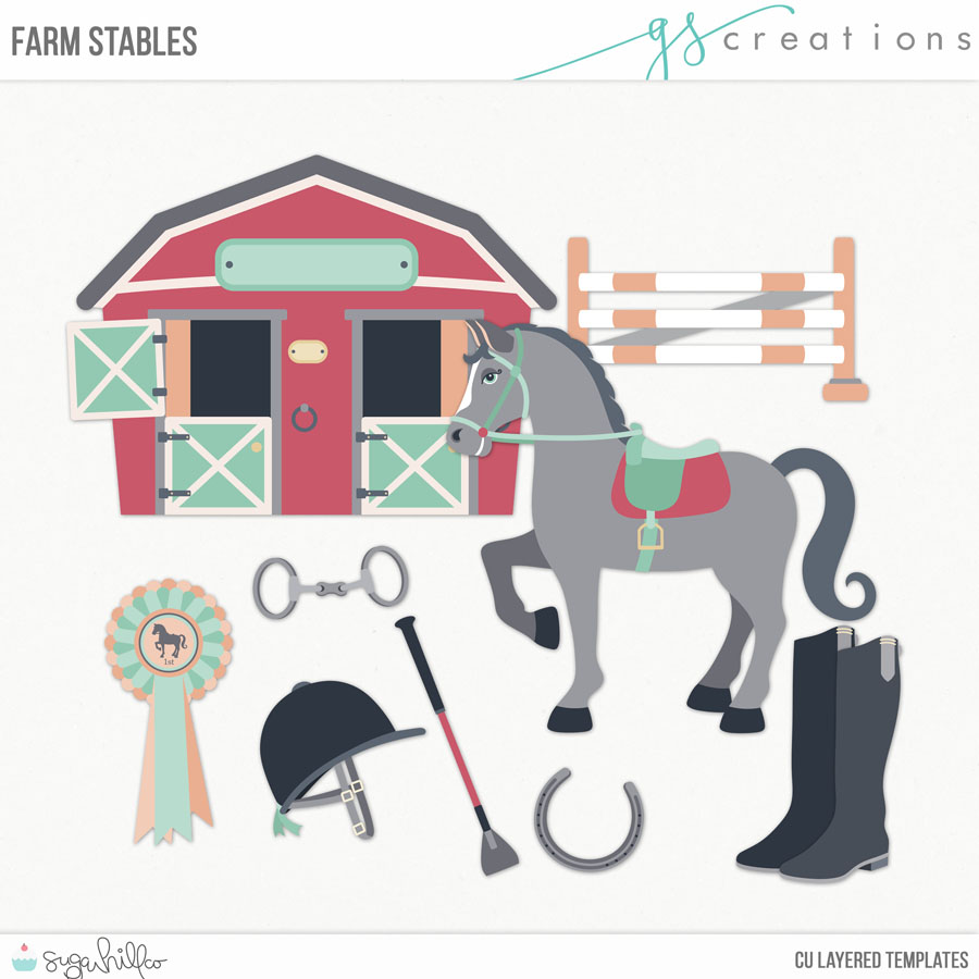 Farm Stables Layered Templates CU