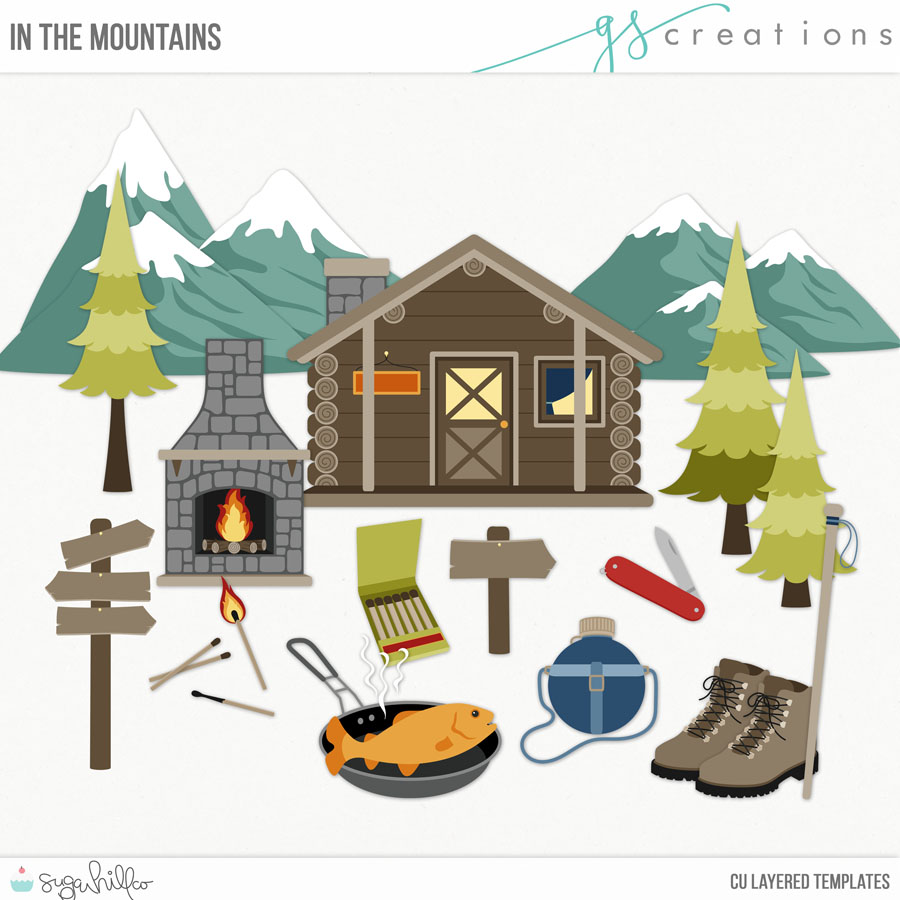 In the Mountains Layered Templates (CU)