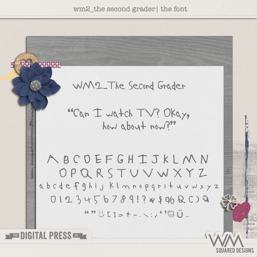 wm2_The Second Grader | The Font