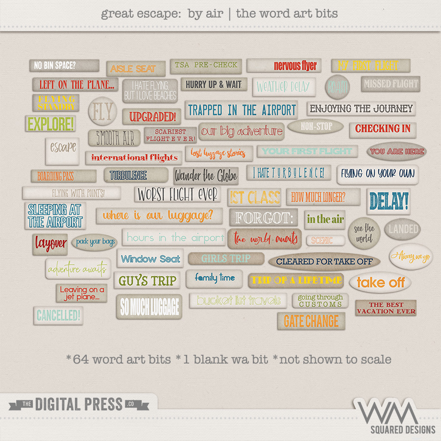 Great Escape: By Air   The Word Art Bits