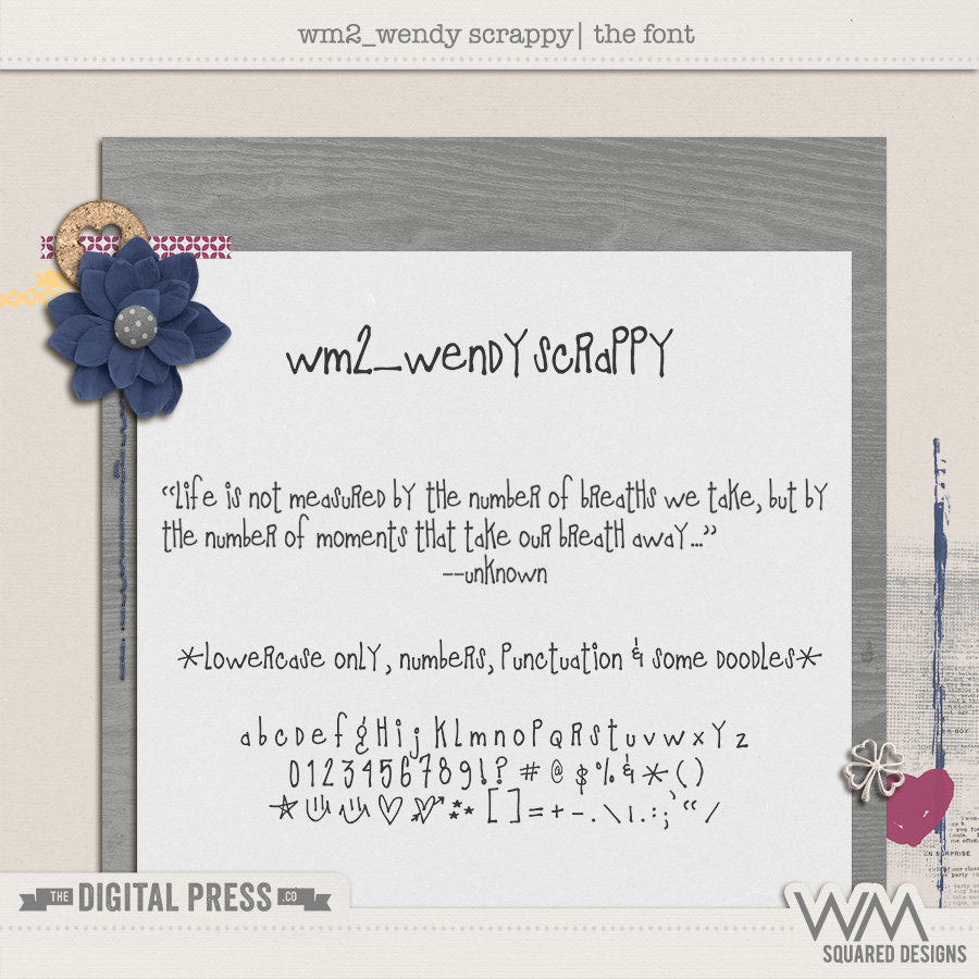 wm2_WendyScrappy | The Font