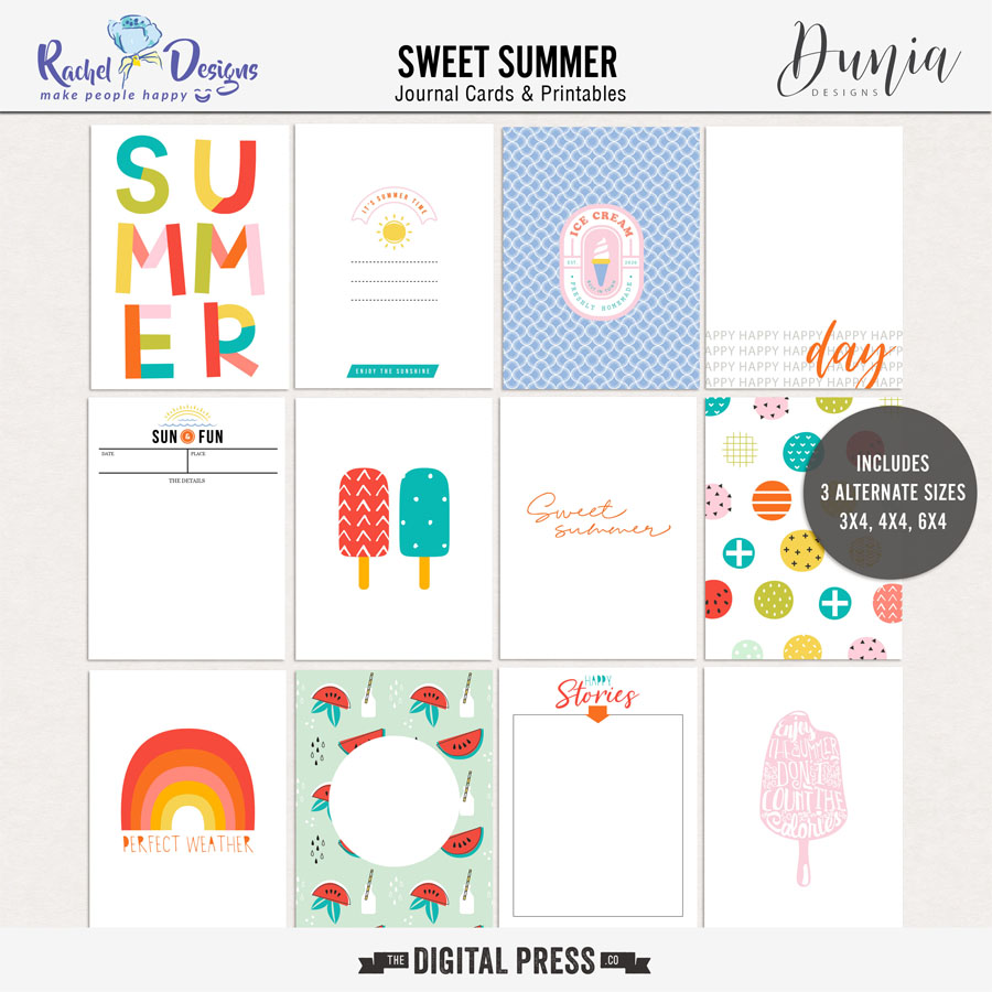 Sweet Summer Collab | Pocket Cards
