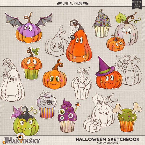 Halloween Sketchbook | add-on