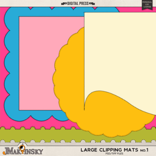 Large Clipping Mats no.1