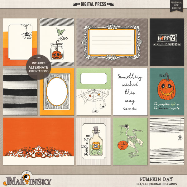 Pumpkin Day | Journal cards