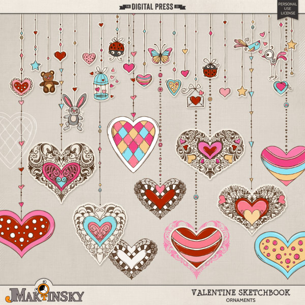 Valentine Sketchbook | Ornaments