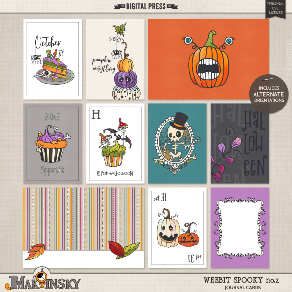 Wee Bit Spooky No.2 | Journal Cards