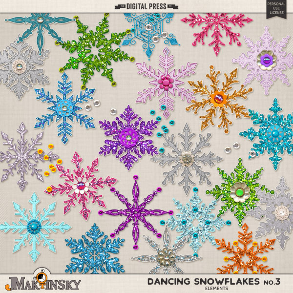 Dancing Snowflakes no.3