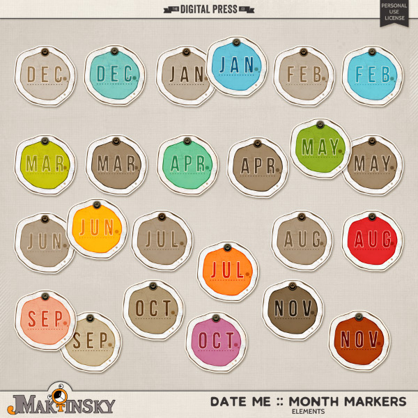 Date Me :: Month Markers