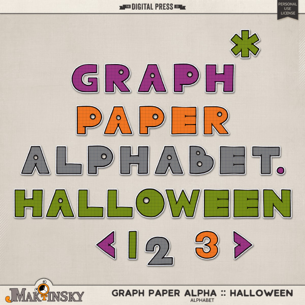 Graph Paper Alpha :: Halloween
