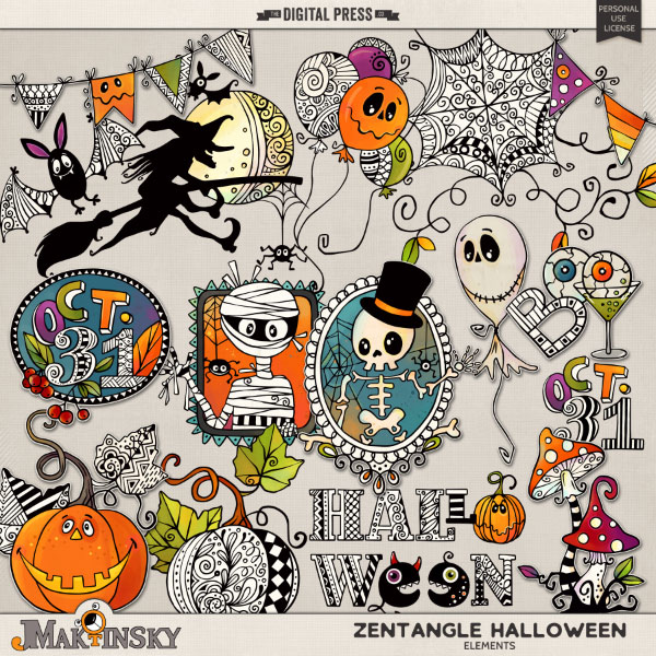Zentangle Halloween