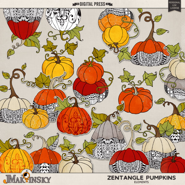 Zentangle Pumpkins
