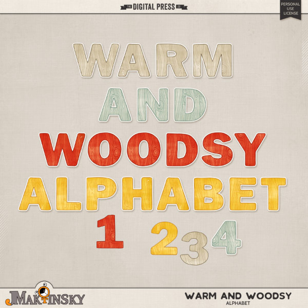 Warm and Woodsy | Alphabet