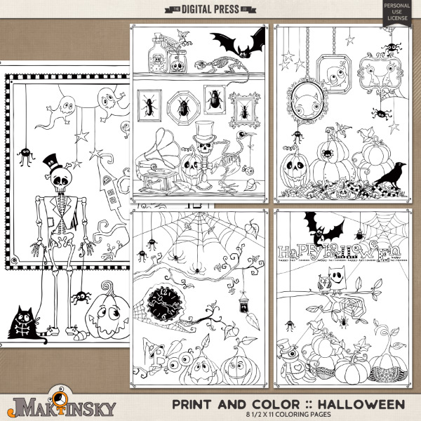 Print and Color :: Halloween
