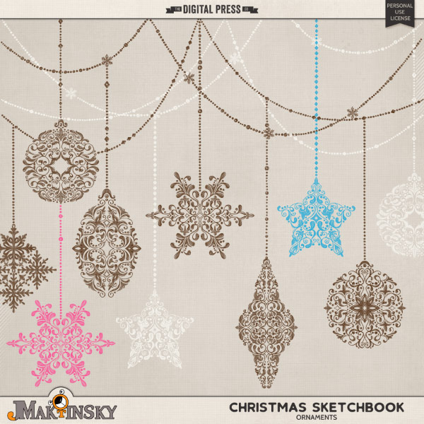 Christmas Sketchbook :: Ornaments