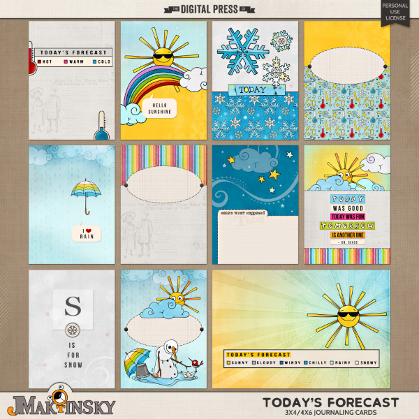Today's Forecast | 3x4/4x6 cards