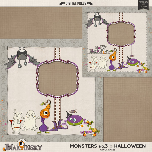 Monsters no.3 Halloween   Quick Pages