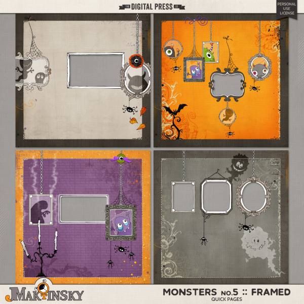 Monsters no.5 :: Framed | Quick Pages